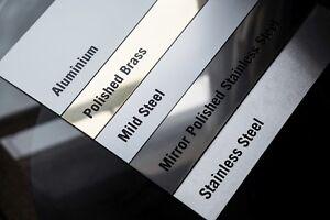 Sheet Metal - Stainless Steel, Brass, Mild, Aluminium, Galvanised, Mirror Polish