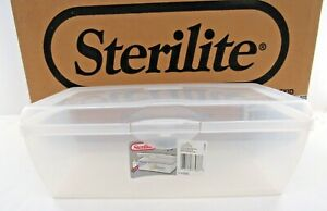Sterilite Large Clear Flip Top Basket 1776   Pick 1 or 6 pieces  NEW