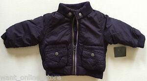 BNWT Zara Baby Winter Padded Lined Jacket Coat 3-6 Months (68cm) Dark Purple