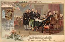 SIGNING OF DECLARATION WEIR MITCHELL AUTOGRAPH MEDICAL PATRIOTIC POSTCARD