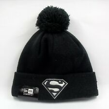 New Era Cap Men's DC Comics Superman Hero Basic Winter Knit Bobble Beanie Hat