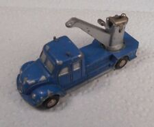 Vintage Schuco Piccolo West Germany Magirus Wrecker Tow Truck Blue