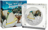Niue -2018- Silver $2 Proof Coin- 1 OZ Reef Fish - Triggerfish