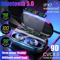 Kopfhörer 3 LED Power Display 4000mAh bluetooth 5.0 Stereo TWS Wireless Headset