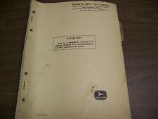 11905 John Deere Parts Catalog Power Unit 145 series Pc-537 Apr 68
