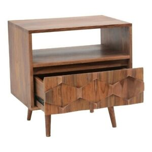 MADE TO ORDER AVALON Mid-Century Modern Natural O2 Nightstand 55X40X55