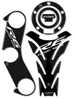 KIT ADESIVI in GEL 3D CARBON LOOK COMPATIBILI per MOTO YAMAHA YZF R6 2017-2020