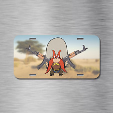 Yosemite Sam AK47 AK-47 Vehicle License Plate, Front Auto Tag Looney Tunes NEW