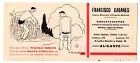 ANUNCIO DE PUBLICIDAD FRANCISCO CABANES ABONOS Y FOSFATOS (ALICANTE)  244x106mm