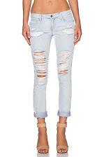 Sz 30 New Paige JIMMY JIMMY Boyfriend Skinny Women's Sawyer Destructed Jeans