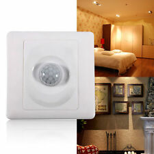 86MM PIR Body Motion Sensor Switch Infrared Wall Mount LED Light Lamp Control SS
