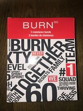 Burn 60 Set of 3 Resistance Bands-New in Box Exercise Training