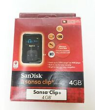 RARE IN BOX SanDisk Sansa Clip+ Black ( 4 GB ) Digital Media Player MP3