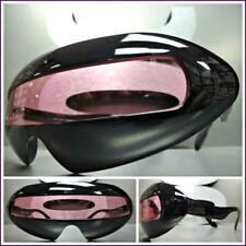 SPACE ROBOT PARTY RAVE COSTUME CYCLOPS FUTURISTIC SHIELD SUN GLASSES Pink Lens