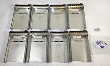 LOT OF 8 DELL 0F9541 F9541 36GB 140GB 15K SAS HARD DRIVE CADDY TRAY