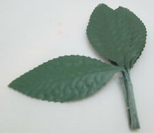 "Fibre Craft 2 1/2"" Cloth  Single Rose Leaves  / Leaf - Package of 6"