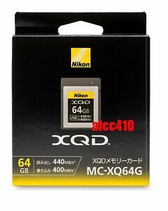 Nikon 64GB XQD Memory Card MC-XQ64G Read : 440MB/s Write 400MB/s 4K AU