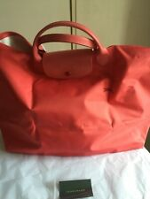 Longchamp Le Pliage LARGE Travel  in Pomegranate New tags 100% AUTHENTIC/