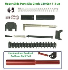 Slide Upper Parts Kit Incl OEM Guide Rod Fits Gen1-3 Glock 19,Free Sight Tool