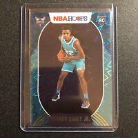 2020-21 Panini NBA Hoops Vernon Carey Jr Teal Explosion Rookie 214 RC Hornets