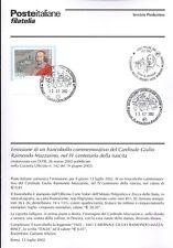 ITALIA 2002 RAIMONDO MAZZARINO BOLLETTINO COMPLETO DI FRANCOBOLLI FDC