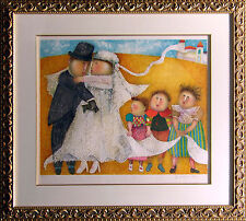 "Graciela Rodo Boulanger ""Les Jeunes Maries"" w/CUSTOM FRAMED Hand Signed wedding"