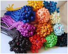 30/100PCS Silk Cord Twist Thread String Bracelet Wristband Unisex