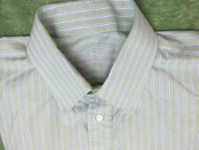 Holland & Sherry Mens Green and Blue Striped Shirt - Large