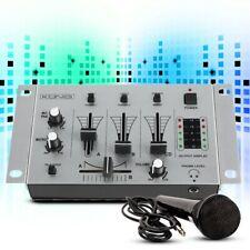 3 Kanal DJ Mischpult Party Disco Mixer Mikrofon Stereo Mono Auswahl Big Light