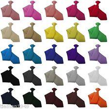 Italian Satin Clip On Clipper Tie - British made from imported Italian Fabric