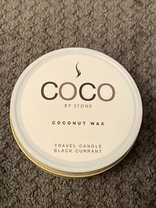 New 3.5oz Black Currant Coconut Wax Travel Tin Candle.  A3