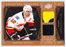 2009 / 2010 Artifacts JAROME IGINLA Treasured Swatches Dual PATCH Card 5/35!