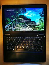 Dell Latitude E7250 laptop, Intel Core i7 CPU, 8GB RAM, 256GB SSD, Win 10 Pro