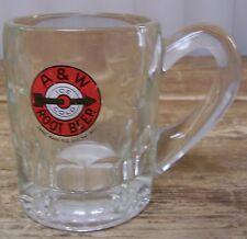 A W A&W A & W Ice Cold Root Beer Glass Mug Stein Cup Vintage