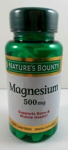 Nature's Bounty Magnesium 500 mg Supports Bone & Muscle Health - 100 Tablets