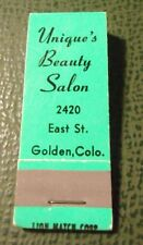 Matchbook - Unique's Beauty Salon Golden Colorado 10 Strike FULL