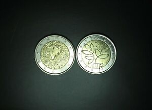 2 euro 2004 + 2008 FINLANDE 2 euro COMMEMORATIVE  circulated