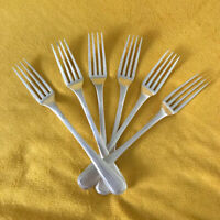 Christofle France Silver Plated Salad / Dessert Forks Set of Six Balance C.C