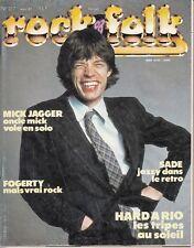 MAGAZINE *ROCK & FOLK N° 217* (JAGGER SADE THE SMITHS JOHN FOGERTY TOURE KUNDA)
