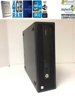 HP EliteDesk 800 G2 SFF Intel Core i5-6500 6th Gen@3.2 Ghz 4GB 256GB SSD Win 10