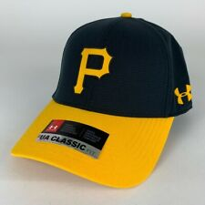 Pittsburgh Pirates MLB Black Yellow Under Armour Adjustable Hat One Size New