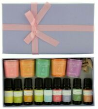 Aromatherapy Massage Oil & Candle Gift Set with Incense