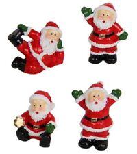 24 x Mini Santa Claus Craft Fairy Garden Miniature Figurine Home Cake Decoration