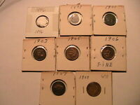 1896-1909 Indian Head Penny Cents VF+ Lot of 8 Dif Dates 96,97,01,03,05,06,07,09