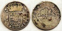Spain-Felipe V. 2 Reales 1723. Segovia. Plata 5,4 g.