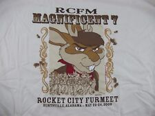 2009 Furmeet Furry Anime Convention Con LARGE T-SHIRT Rocket City Anthro Cosplay