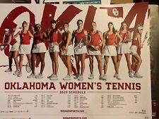 2 Oklahoma Sooners 2020 Women's Tennis Schedule Poster  Norman OU