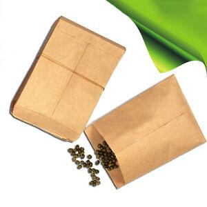 100pcs Small Kraft Paper Gift Bags Vintage Wedding Treat Brown Paper T1Y5