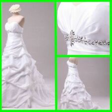 Taffeta Sleeveless Ball Gown/Dutchess Wedding Dresses