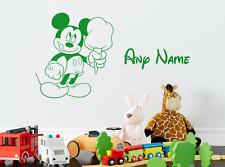 Disney Mickey Mouse Personalised Name Wall Sticker Decal Custom Kids Art Vinyl